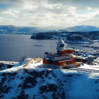 小樽市高島の日和山灯台のドローン映像
