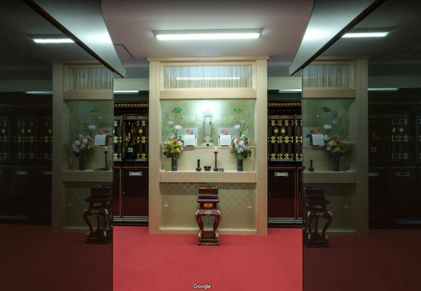 光明寺別院庫裡の納骨堂