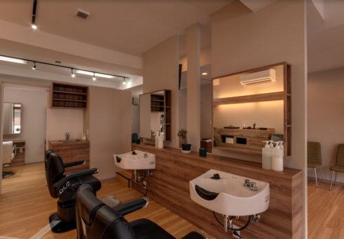 髪工房 もみの木の店内